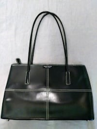 KATE SPADE black purse with white stitching.  Crystal, 55422