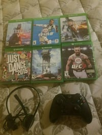Xbox one controller, games and headset   El Paso, 79927