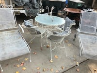 Metal patio table and 4 chairs with 2 metal loungers Modesto, 95355