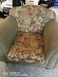 brown and red floral sofa chair Edmonton, T5L 1B6