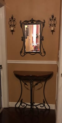 brown wooden side table with mirror New York, 10314