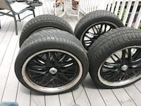 """18"""" Tires with Rims SERIOUS INQUIRES ONLY! No checks Ca$h Only!! New York, 11692"""