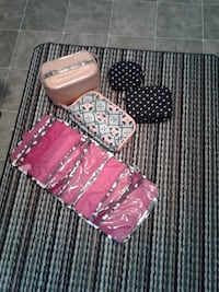 5 cosmetic/toiletries bags  Travel or home use