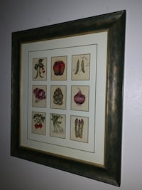 Framed botanical Painting wall art decor for kitchen or dining Grand Junction, 81507