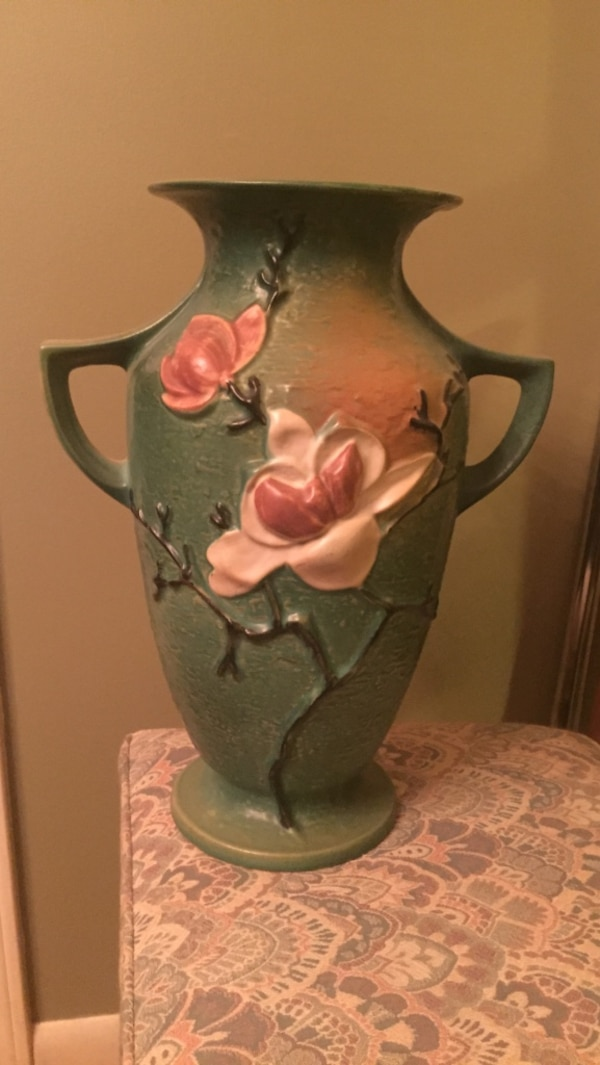 Used Magnolia By Roseville Pottery Item 99 16 Tall For Sale In