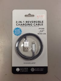 2 in 1 reversible charging cable charges iPhone and android  Hagerstown, 21740