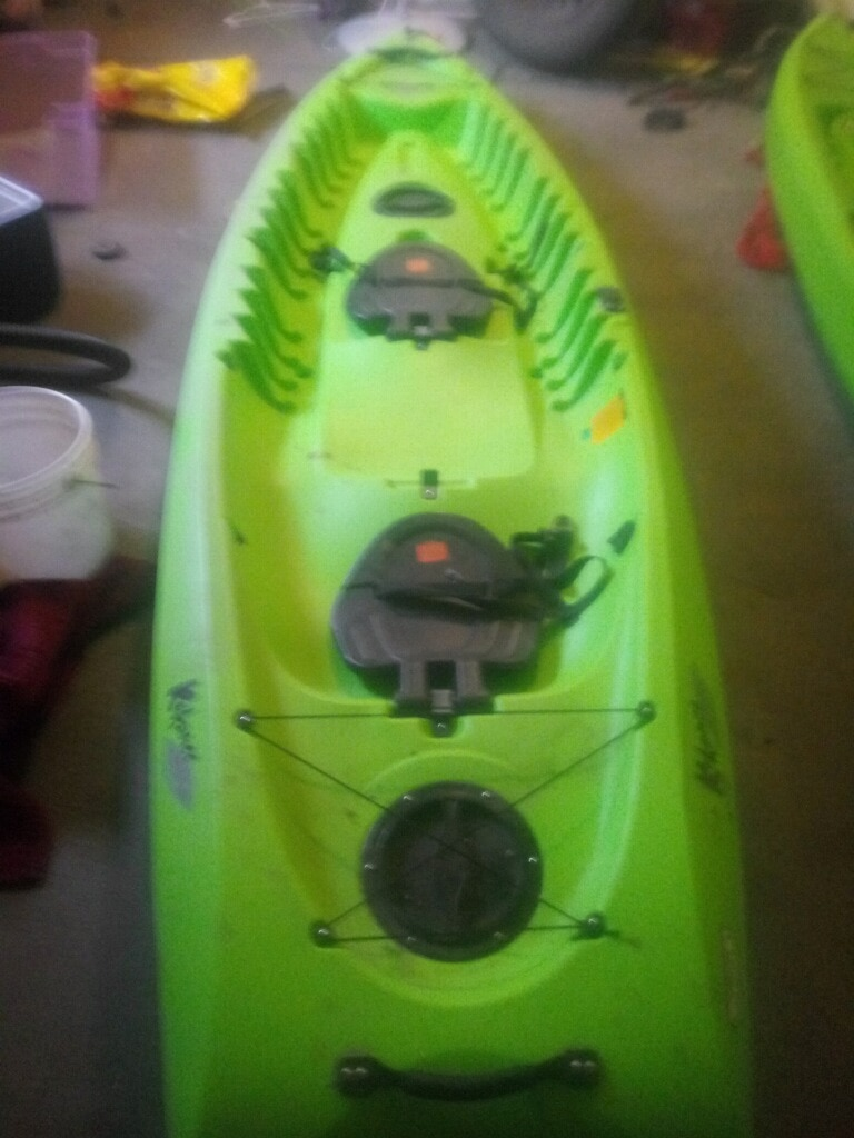 Photo $375-FIRM PRICE-no offers!-kokanee double seat kayak-(USED NO PADDLES THEY WERE PURCHASED SEPARATELY) we have way too many kayaks that we do not use anymore-we use our single kayaks more so we are letting this one go. Double seat can withstand 2 people up