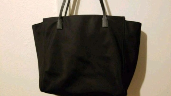 72b5973a3308 Used black leather tote bag screenshot for sale in Mesquite - letgo