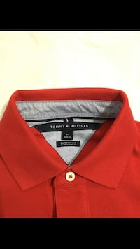 red and black Tommy Hilfiger polo shirt Georgetown, L7G 5T4