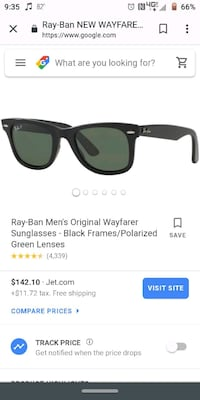 Ray ban wayfarer polarized with case Las Vegas, 89119