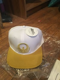 White and brown fitted cap anime lootcrate