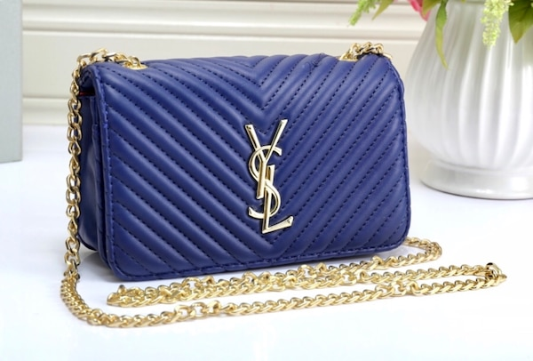 e3724e8032d6 Used Blue Saint Laurent leather tote bag for sale in Indianapolis ...