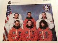 STS-64 Space Shuttle Discovery Crew photo and back side bio diagram page Tampa, 33635