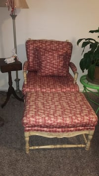 red and brown floral padded armchair Fort Collins, 80524