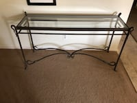 black metal framed glass top coffee table San Juan Capistrano, 92675