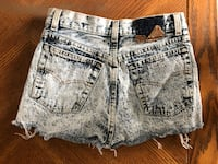 Size 26W high waisted acid wash shorts GUELPH