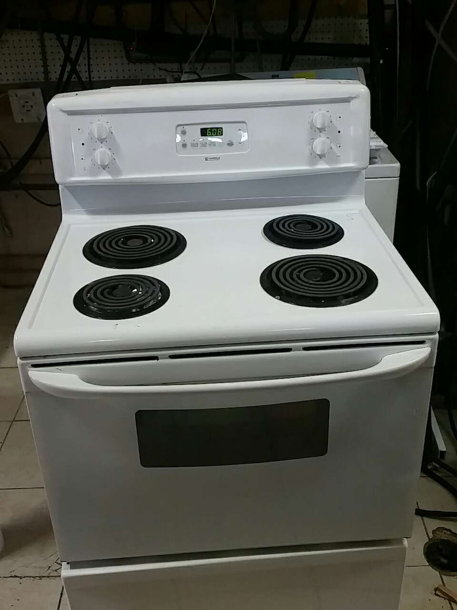 white electric coil range