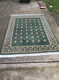 Green floral area rug Vienna, 22180