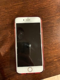 silver iPhone 6 with brown case