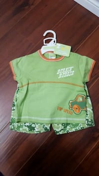 Boy's Two Piece Set. Available Sizes: 18M and 24M