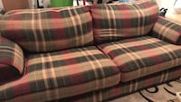 red, green, and white plaid fabric loveseat Midland, 79707