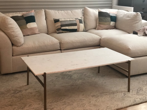 Cb2 White Marble Coffee Table
