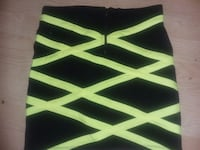 Brand new black and fluorescent green mini skirt f Providence, 02904