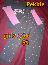 pink and white polka dot print hoodie Calgary, T3B 0T3