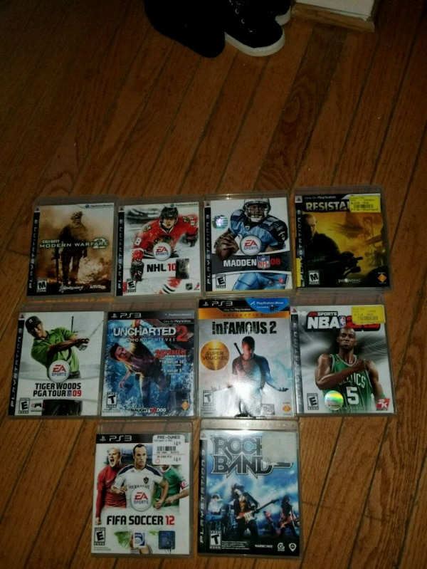 assorted PS3 game case lot