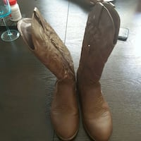 pair of brown leather cowboy boots Clinton, 20735
