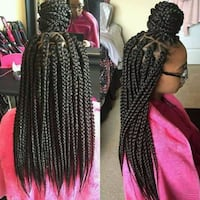 women's black and pink braided hair collage 47 km