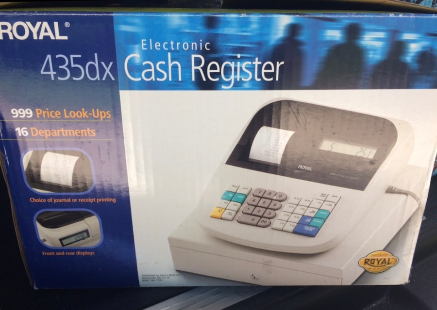 white and black Royal cash register box, used for sale  Kitty Hawk