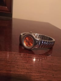 Mudd Watch Bracelet - Stainless Steel Orange Timeface Toronto, M3H