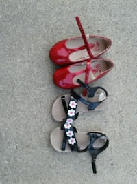 toddler's red leather ballet flats and black leather sandals West Lafayette, 47906