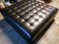 tufted black leather tufted ottoman Tampa, 33624