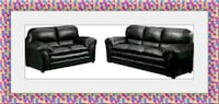 Black bonded leather sofa and love seat $599 Hyattsville, 20781