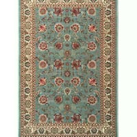Rug with Non-Skid Rubber Backing, Sage Green,5'x7' Houston, 77036