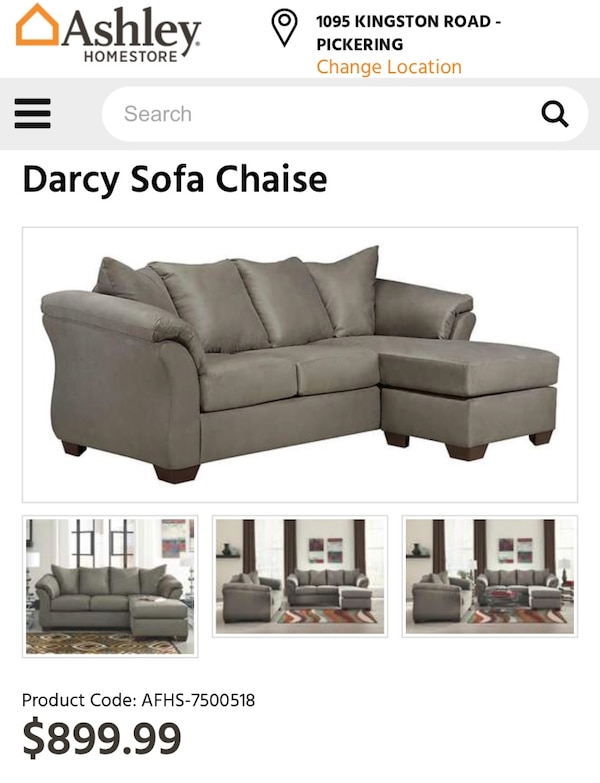 Pleasant 675 Firm Rarely Used Darcy Sofa From Ashley Furniture Home Interior And Landscaping Ologienasavecom
