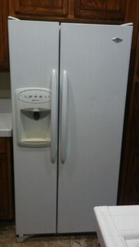 white side-by-side refrigerator with dispenser Lincoln, 95648