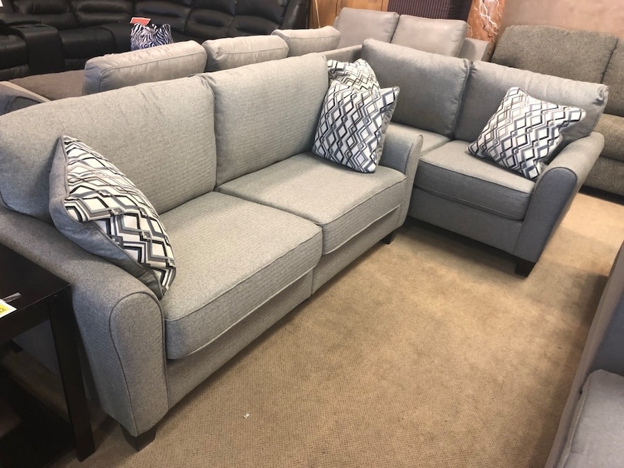 used ashley gray sofa love seat on sale for sale in phoenix letgo rh us letgo com