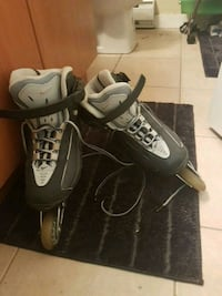 pair of black-and-white inline skates Langley, V3A 1S6