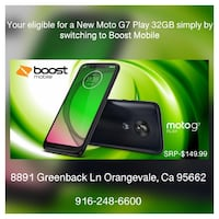New Moto G7 play 32GB - Boost Mobile