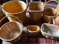 Longaberger basket lot of 6 in excellent used condition. Mc Gaheysville, 22840