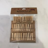 36 Mini Wooden Clip Set Hougang, 530971