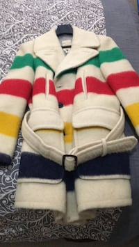 Men's authentic vintage 5 point Hudson Bay blanket coat