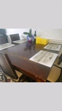 brown wooden dining table with 6 chairs screenshot Stafford, 22554