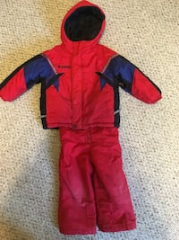 toddler's red, blue and black Columbia rain coat and pants Laurentian Valley, K8A 8N5
