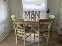 Wood Kitchen table with glass cover  Boca Raton, 33428