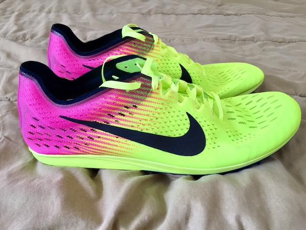 Nike Zoom Matumbo 3 Rio Olympics Spikes Running Shoes Volt Pink [PHONE NUMBER HIDDEN] Mens Sz 11.5 NEW