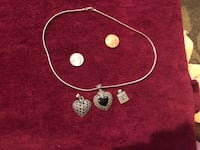 925 sterling silver necklace and three charms all 925 Jonesborough, 37659